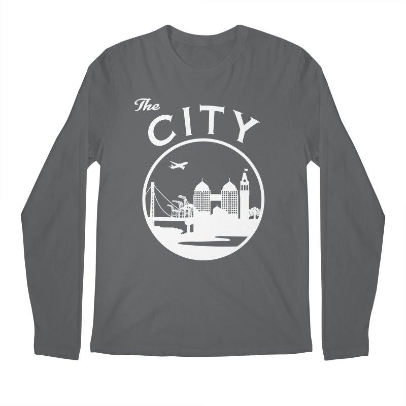 THE CITY of Oakland (white) Men's Longsleeve T-Shirt by The Artist Shop of Jason Martian