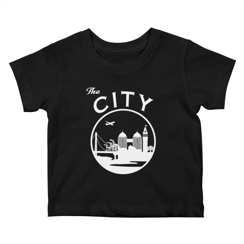 THE CITY of Oakland (white) Kids Baby T-Shirt by The Artist Shop of Jason Martian