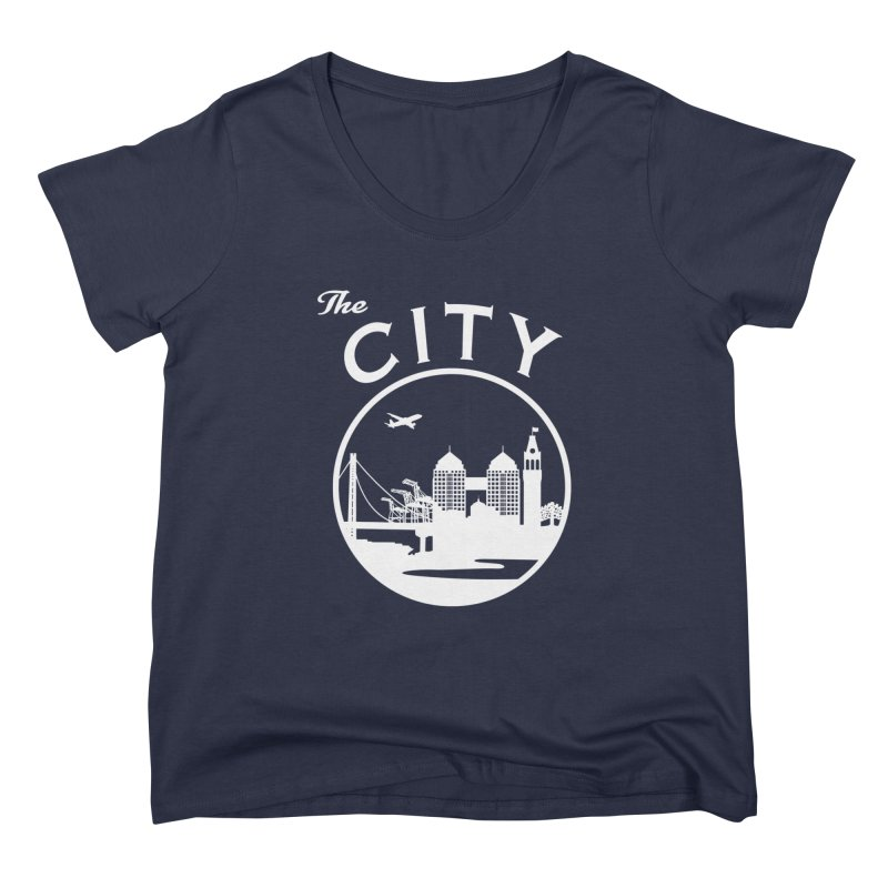 THE CITY of Oakland (white) Women's Scoop Neck by The Artist Shop of Jason Martian