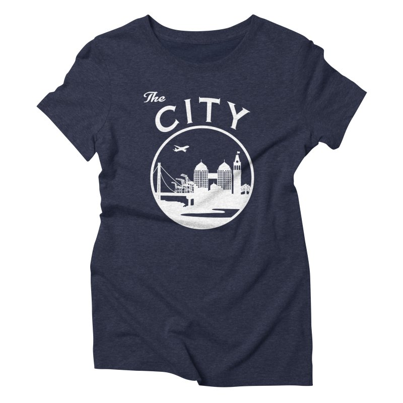 THE CITY of Oakland (white) Women's T-Shirt by The Artist Shop of Jason Martian
