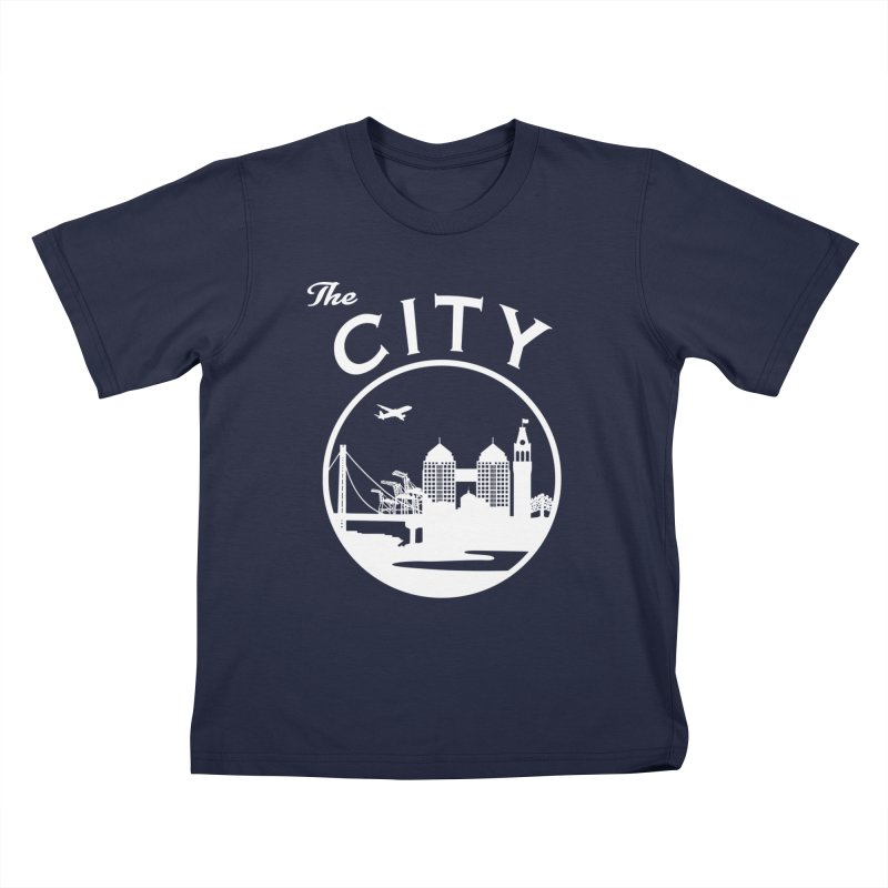 THE CITY of Oakland (white) Kids T-Shirt by The Artist Shop of Jason Martian
