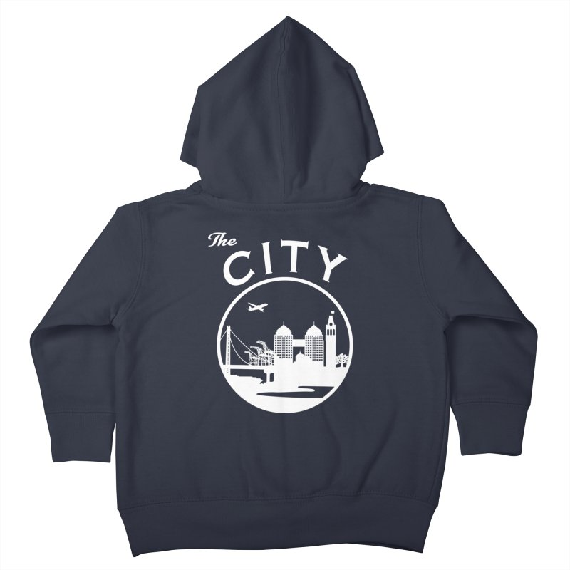THE CITY of Oakland (white) Kids Toddler Zip-Up Hoody by The Artist Shop of Jason Martian