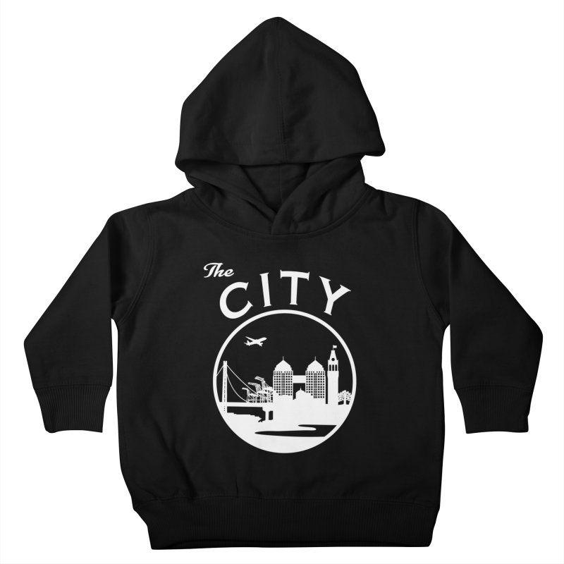 THE CITY of Oakland (white) Kids Toddler Pullover Hoody by The Artist Shop of Jason Martian