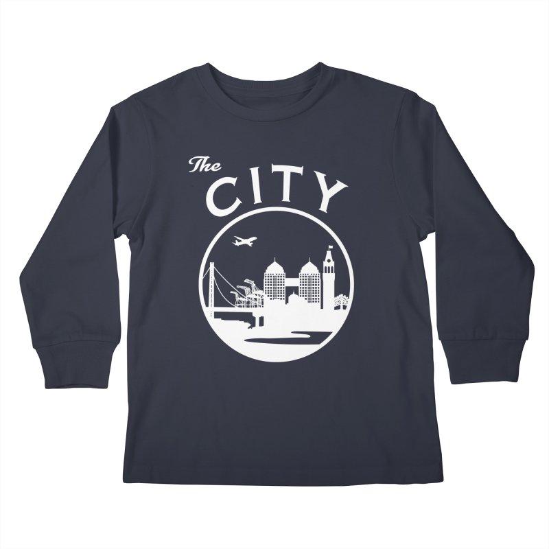 THE CITY of Oakland (white) Kids Longsleeve T-Shirt by The Artist Shop of Jason Martian