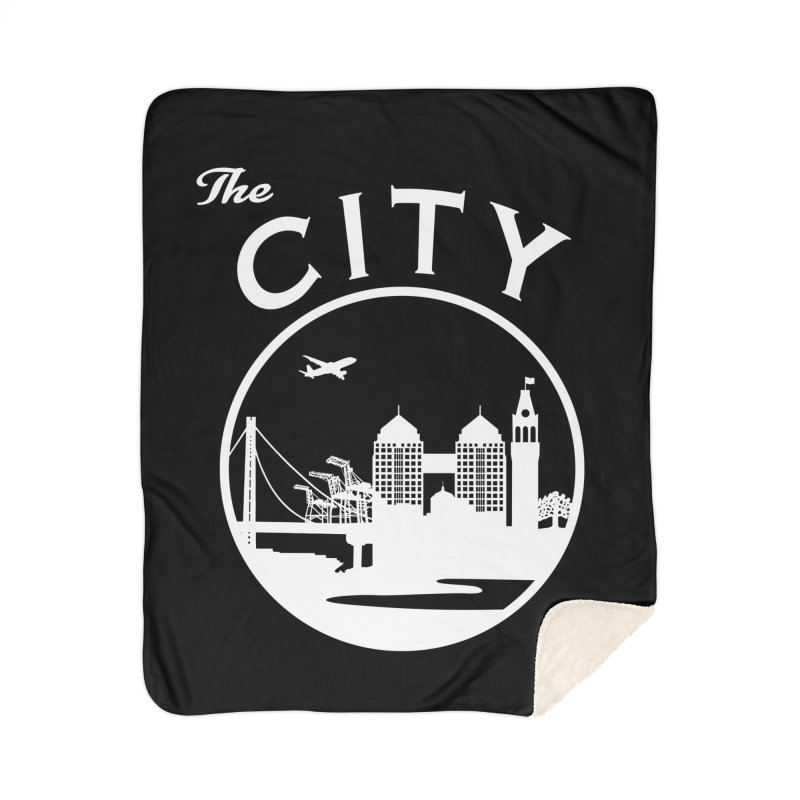 THE CITY of Oakland (white) Home Blanket by The Artist Shop of Jason Martian