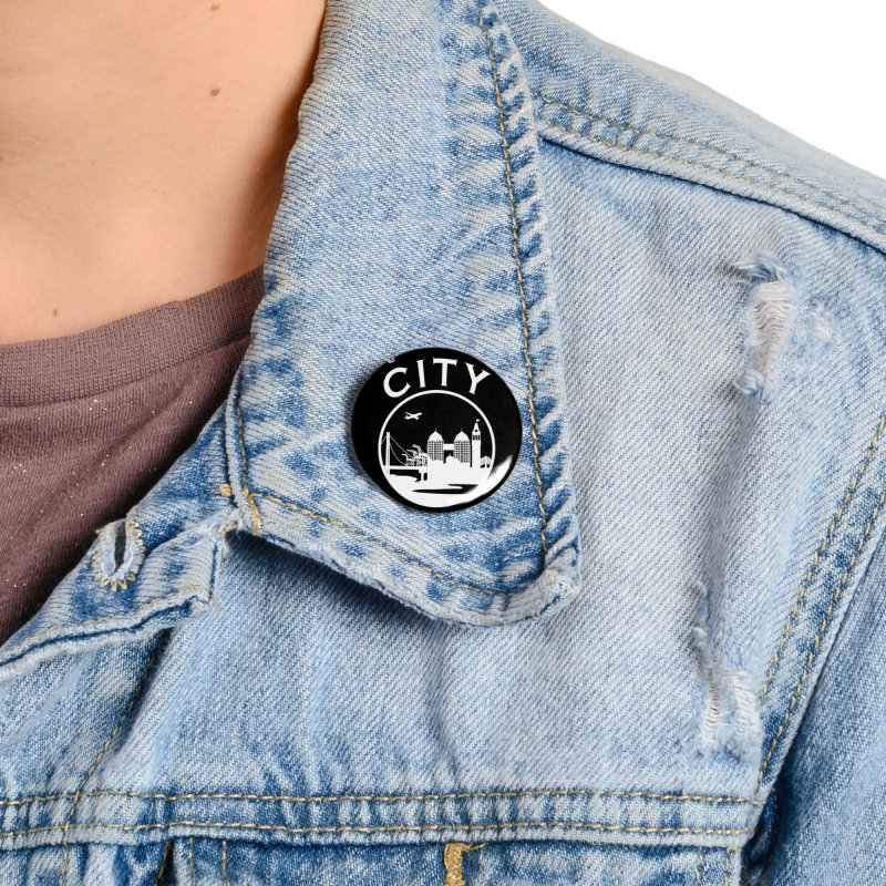 THE CITY of Oakland (white) Accessories Button by The Artist Shop of Jason Martian