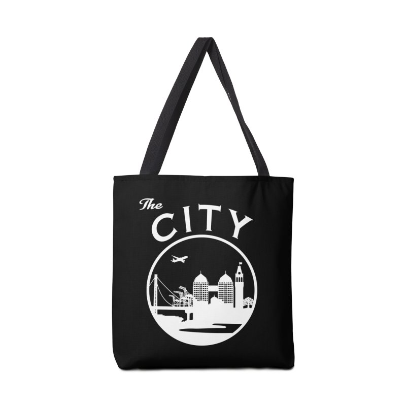 THE CITY of Oakland (white) Accessories Bag by The Artist Shop of Jason Martian