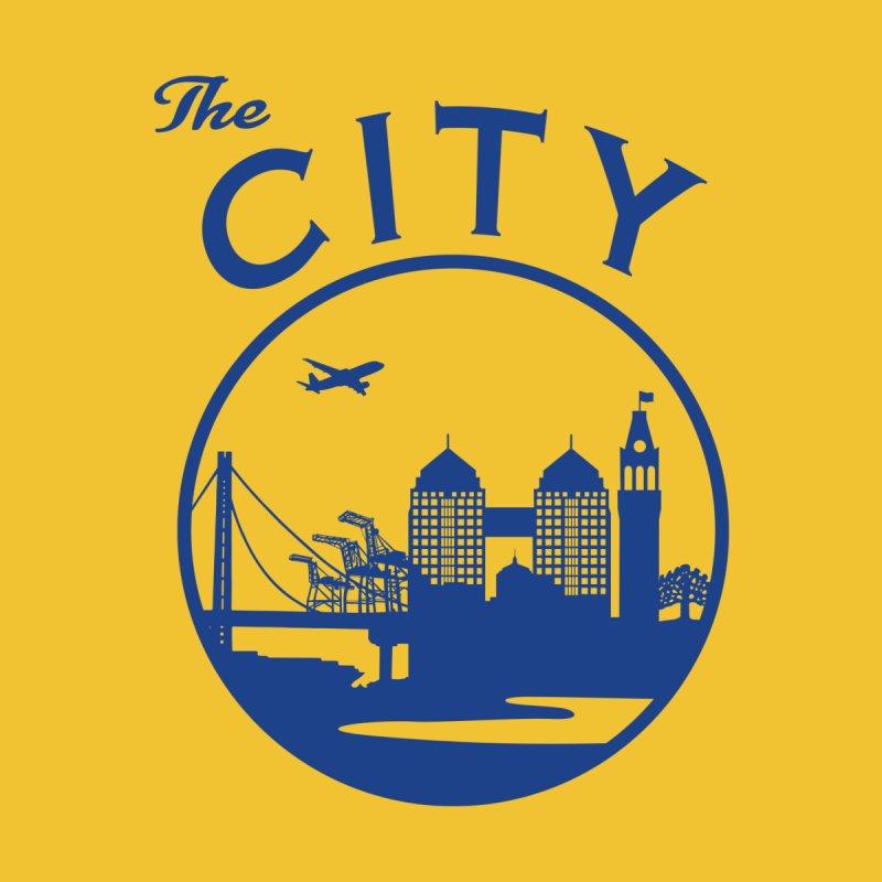 THE CITY of Oakland (Blue) Kids T-Shirt by The Artist Shop of Jason Martian