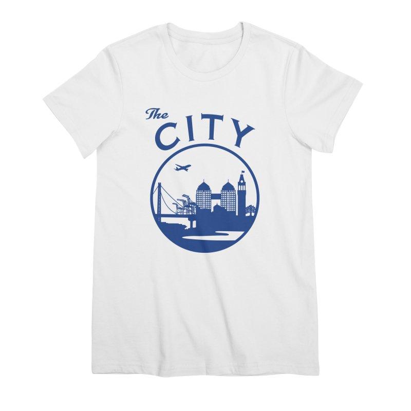 THE CITY of Oakland (Blue) Women's T-Shirt by The Artist Shop of Jason Martian
