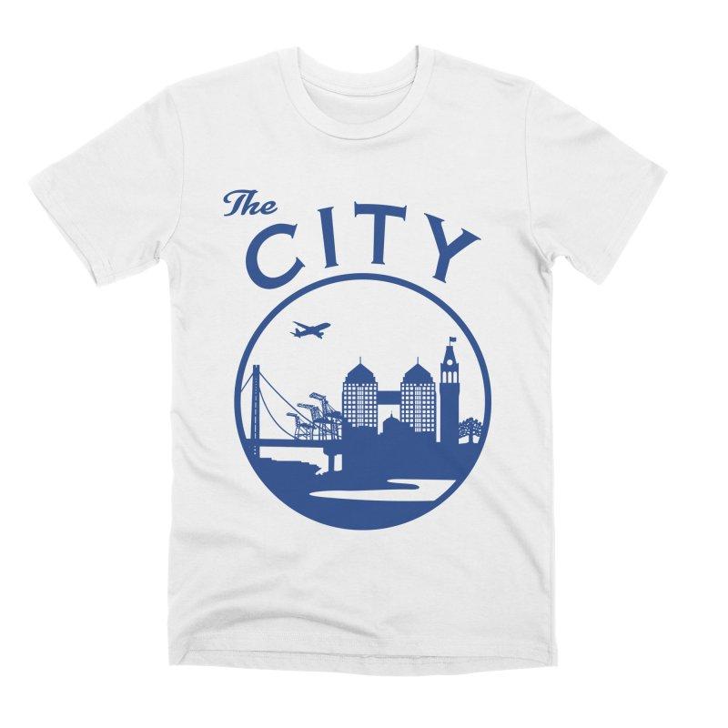 THE CITY of Oakland (Blue) Men's T-Shirt by The Artist Shop of Jason Martian