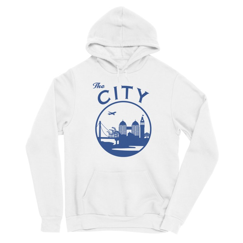 THE CITY of Oakland (Blue) Men's Pullover Hoody by The Artist Shop of Jason Martian