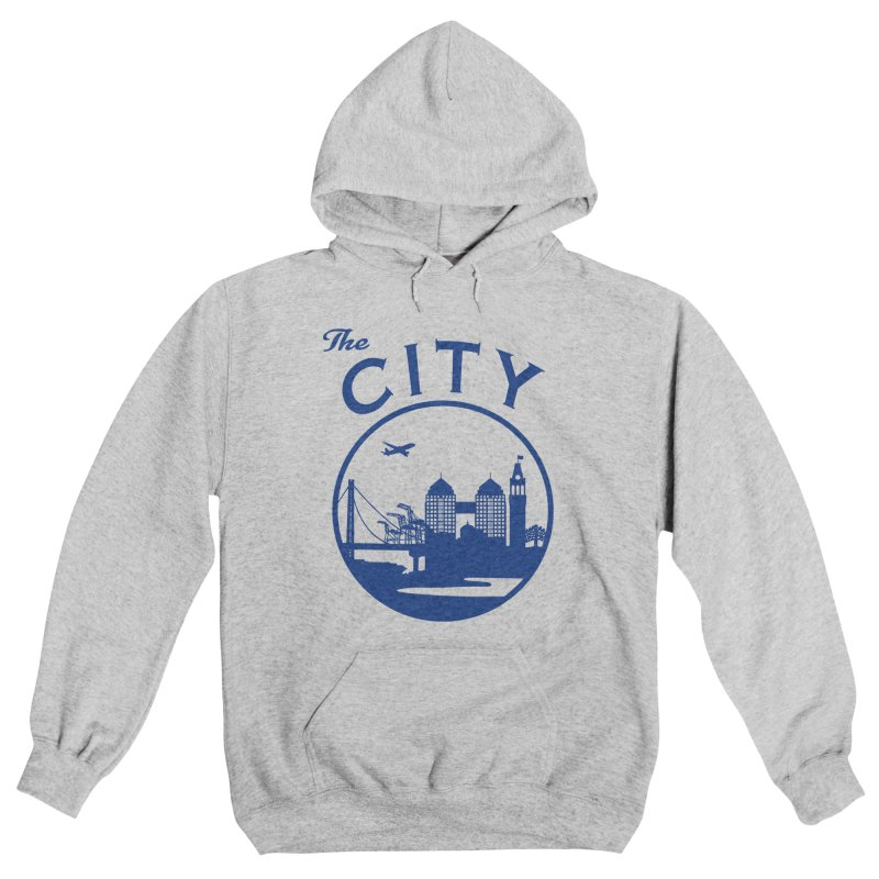 THE CITY of Oakland (Blue) Women's Pullover Hoody by The Artist Shop of Jason Martian