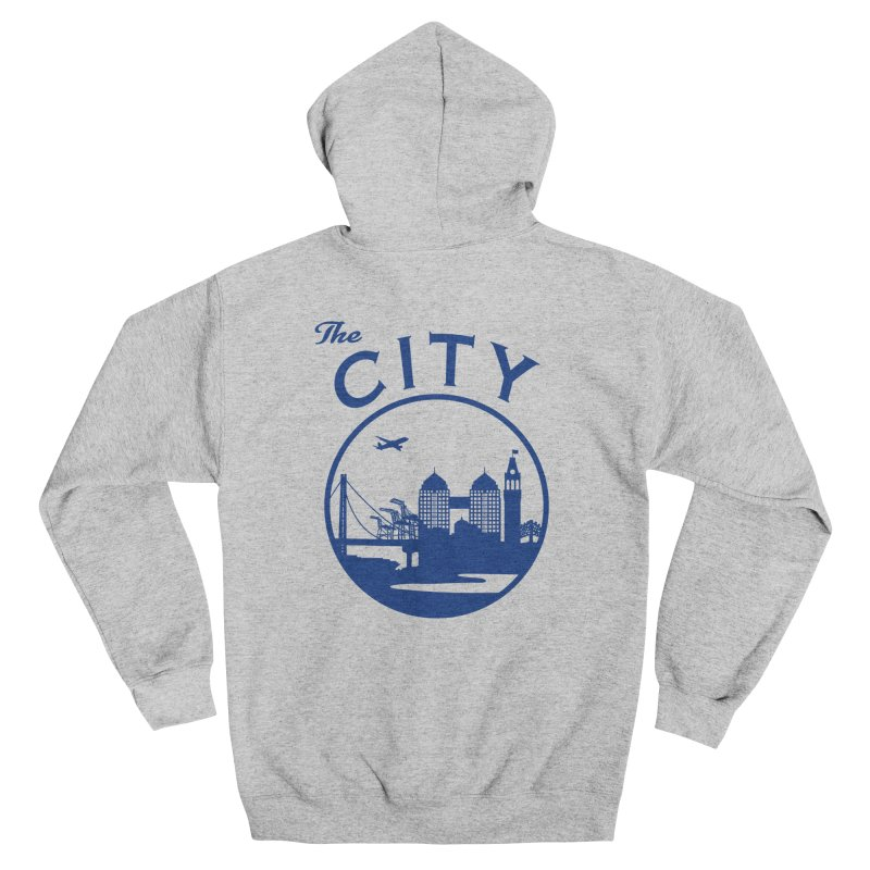 THE CITY of Oakland (Blue) Women's Zip-Up Hoody by The Artist Shop of Jason Martian