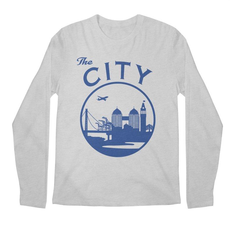 THE CITY of Oakland (Blue) Men's Longsleeve T-Shirt by The Artist Shop of Jason Martian
