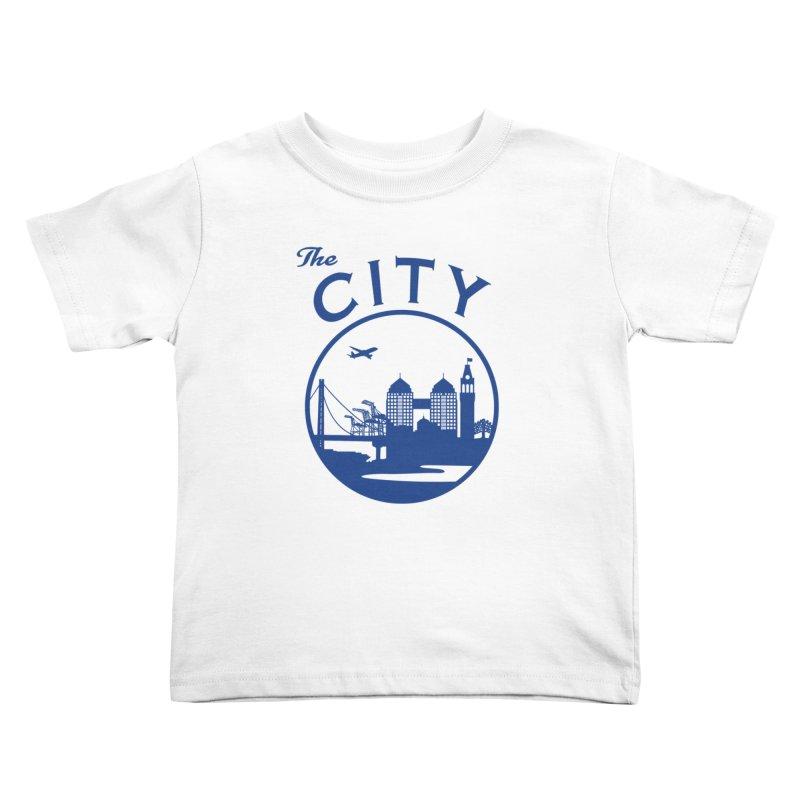 THE CITY of Oakland (Blue) Kids Toddler T-Shirt by The Artist Shop of Jason Martian