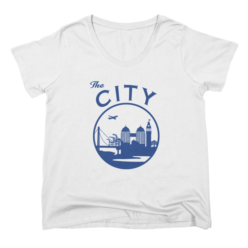 THE CITY of Oakland (Blue) Women's Scoop Neck by The Artist Shop of Jason Martian
