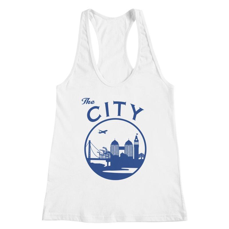 THE CITY of Oakland (Blue) Women's Tank by The Artist Shop of Jason Martian