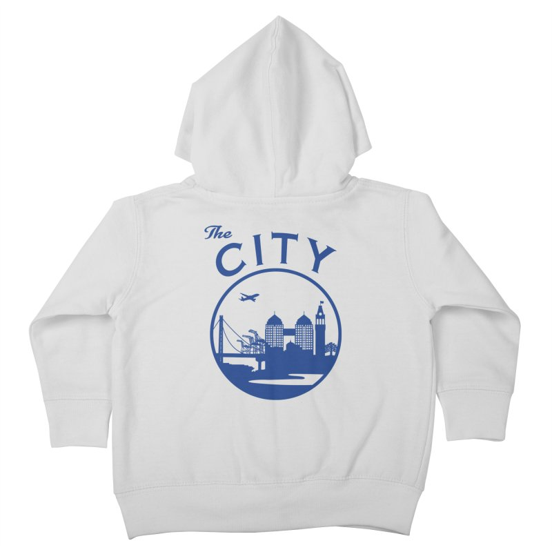 THE CITY of Oakland (Blue) Kids Toddler Zip-Up Hoody by The Artist Shop of Jason Martian