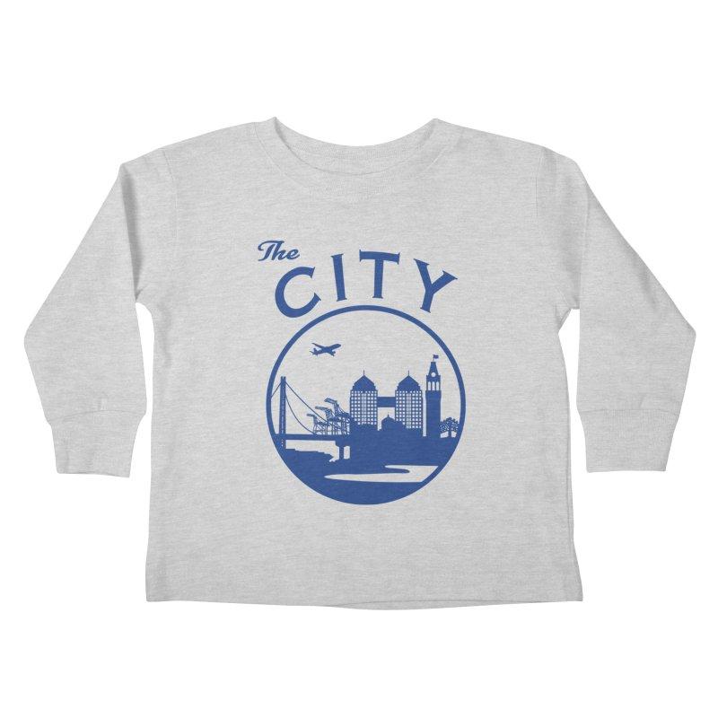 THE CITY of Oakland (Blue) Kids Toddler Longsleeve T-Shirt by The Artist Shop of Jason Martian