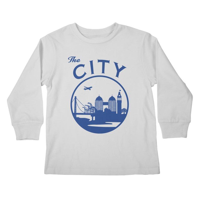 THE CITY of Oakland (Blue) Kids Longsleeve T-Shirt by The Artist Shop of Jason Martian