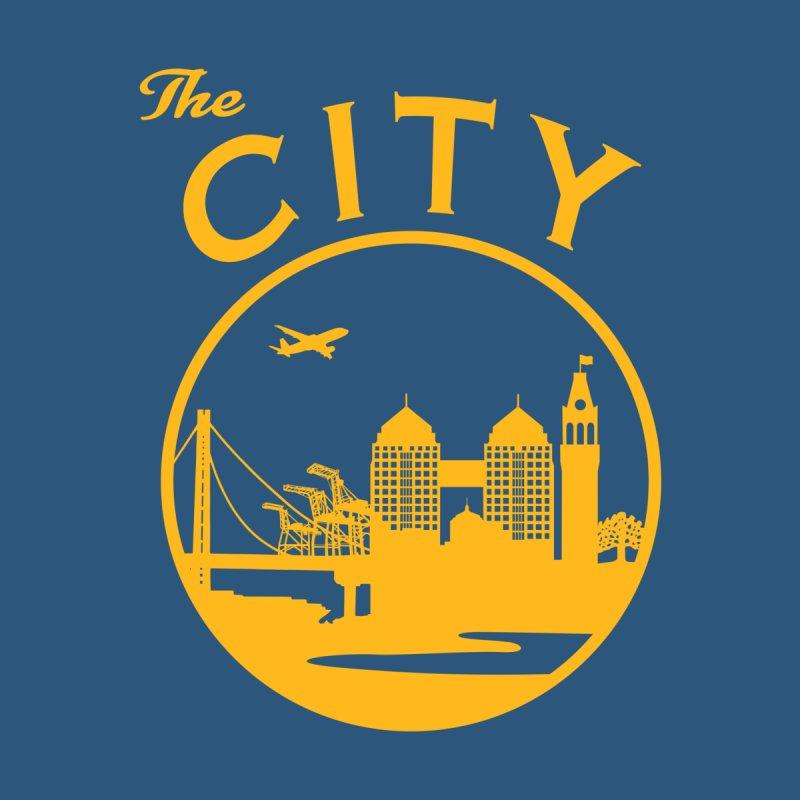 THE CITY of Oakland (Gold) Men's V-Neck by The Artist Shop of Jason Martian