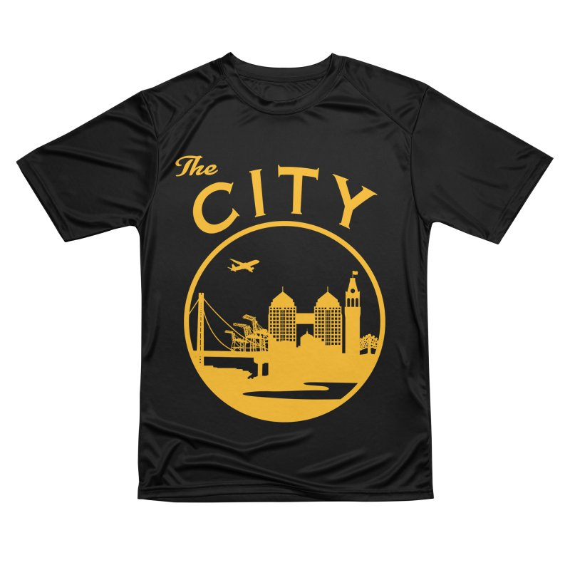 THE CITY of Oakland (Gold) Men's T-Shirt by The Artist Shop of Jason Martian
