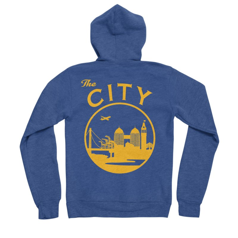 THE CITY of Oakland (Gold) Men's Zip-Up Hoody by The Artist Shop of Jason Martian