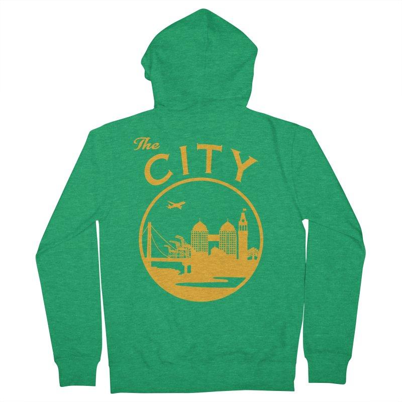 THE CITY of Oakland (Gold) Women's Zip-Up Hoody by The Artist Shop of Jason Martian
