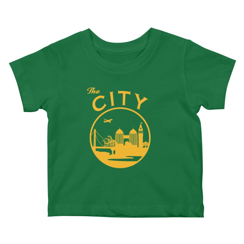 THE CITY of Oakland (Gold) Kids Baby T-Shirt by The Artist Shop of Jason Martian