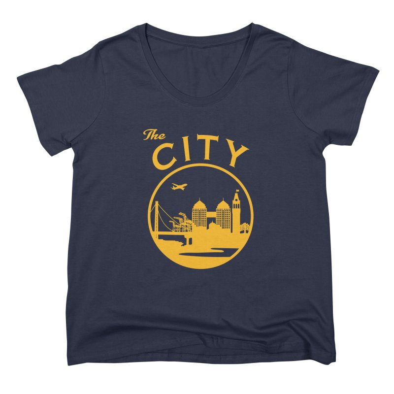 THE CITY of Oakland (Gold) Women's Scoop Neck by The Artist Shop of Jason Martian