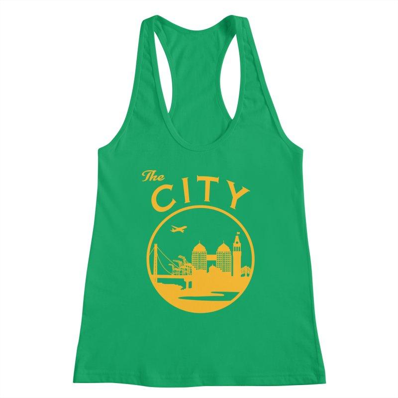 THE CITY of Oakland (Gold) Women's Tank by The Artist Shop of Jason Martian