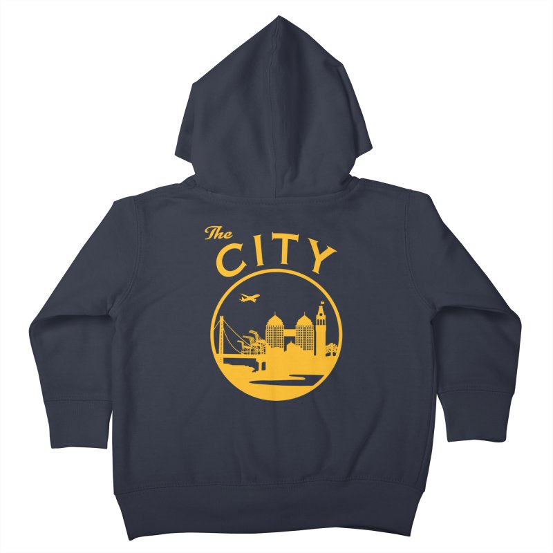 THE CITY of Oakland (Gold) Kids Toddler Zip-Up Hoody by The Artist Shop of Jason Martian