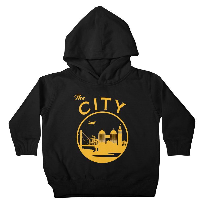 THE CITY of Oakland (Gold) Kids Toddler Pullover Hoody by The Artist Shop of Jason Martian