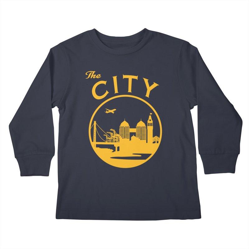 THE CITY of Oakland (Gold) Kids Longsleeve T-Shirt by The Artist Shop of Jason Martian