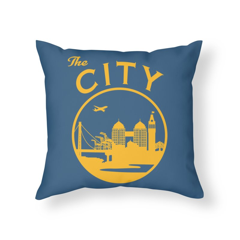 THE CITY of Oakland (Gold) Home Throw Pillow by The Artist Shop of Jason Martian