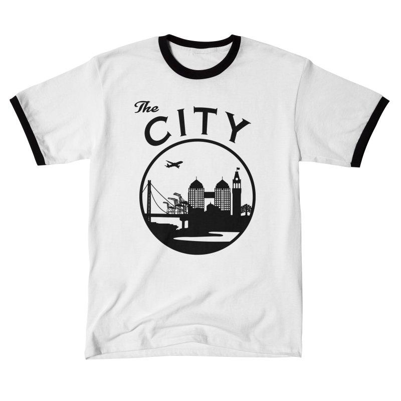 THE CITY of Oakland (Black) Men's T-Shirt by The Artist Shop of Jason Martian