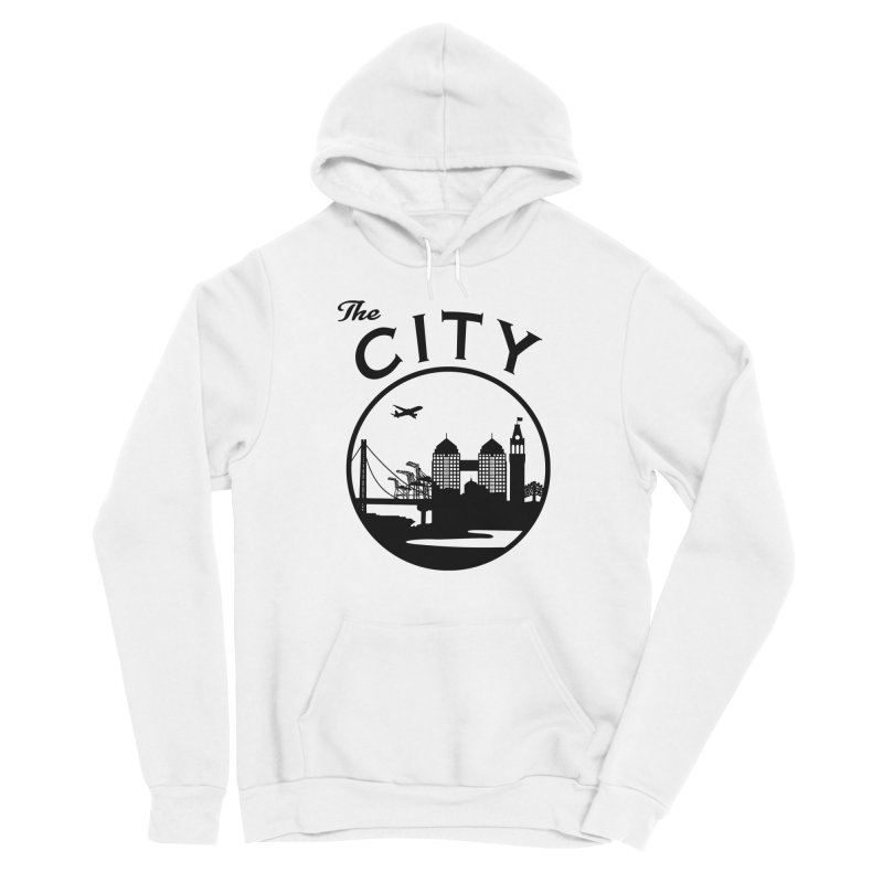 THE CITY of Oakland (Black) Men's Pullover Hoody by The Artist Shop of Jason Martian