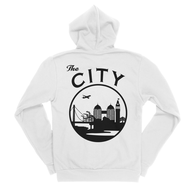 THE CITY of Oakland (Black) Women's Zip-Up Hoody by The Artist Shop of Jason Martian