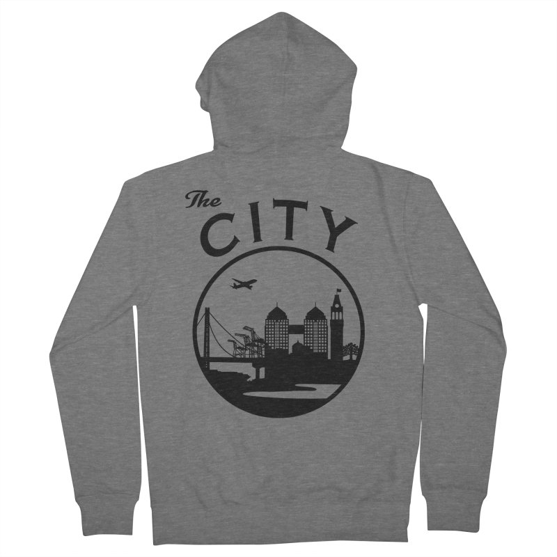 THE CITY of Oakland (Black) Men's Zip-Up Hoody by The Artist Shop of Jason Martian