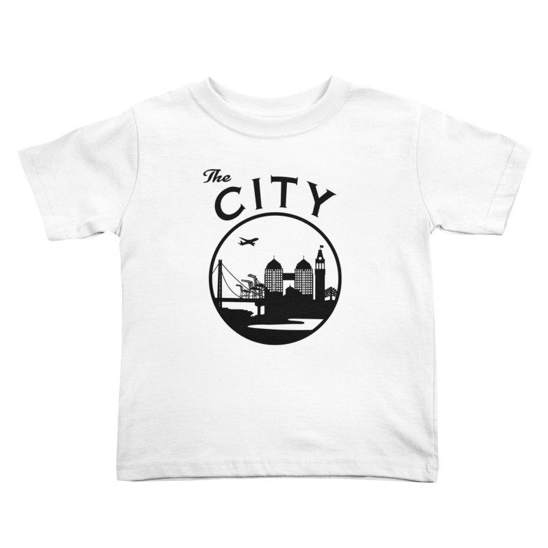THE CITY of Oakland (Black) Kids Toddler T-Shirt by The Artist Shop of Jason Martian