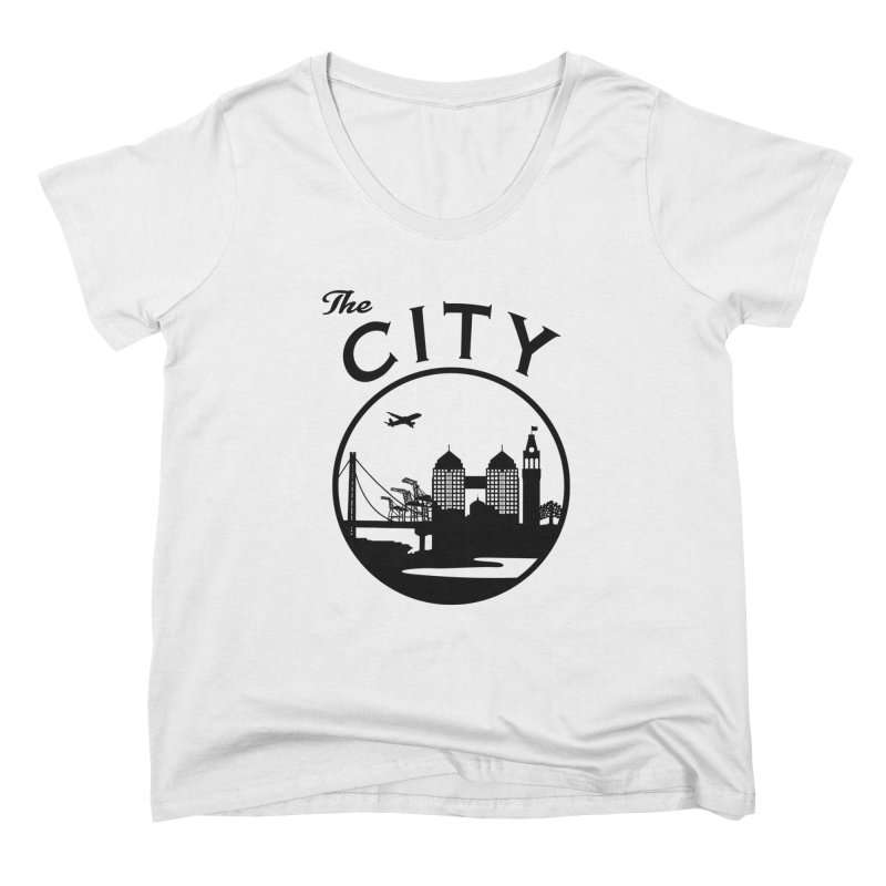 THE CITY of Oakland (Black) Women's Scoop Neck by The Artist Shop of Jason Martian