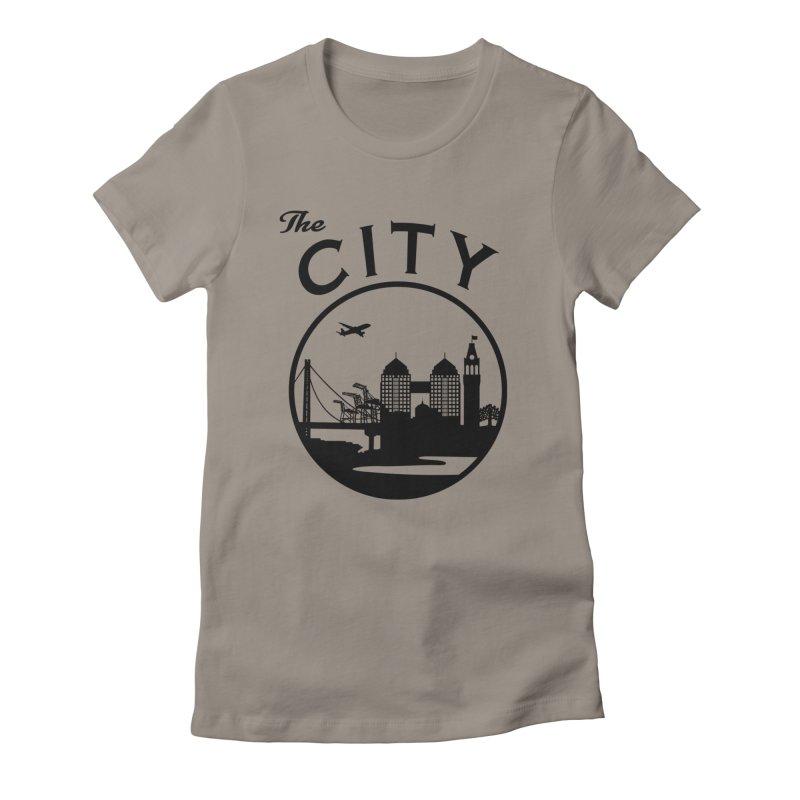 THE CITY of Oakland (Black) Women's T-Shirt by The Artist Shop of Jason Martian