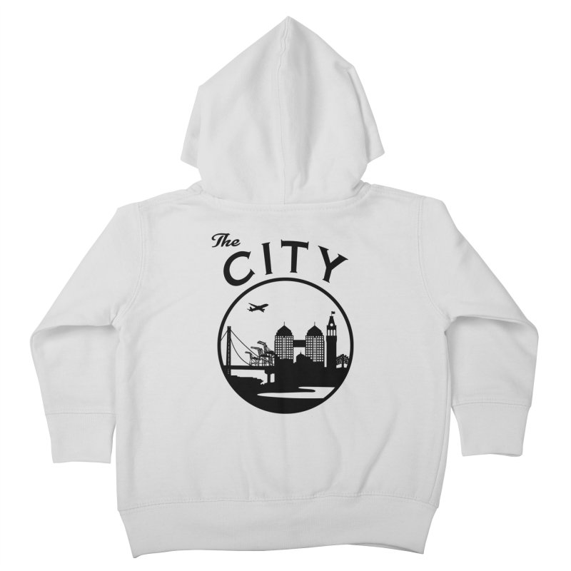 THE CITY of Oakland (Black) Kids Toddler Zip-Up Hoody by The Artist Shop of Jason Martian