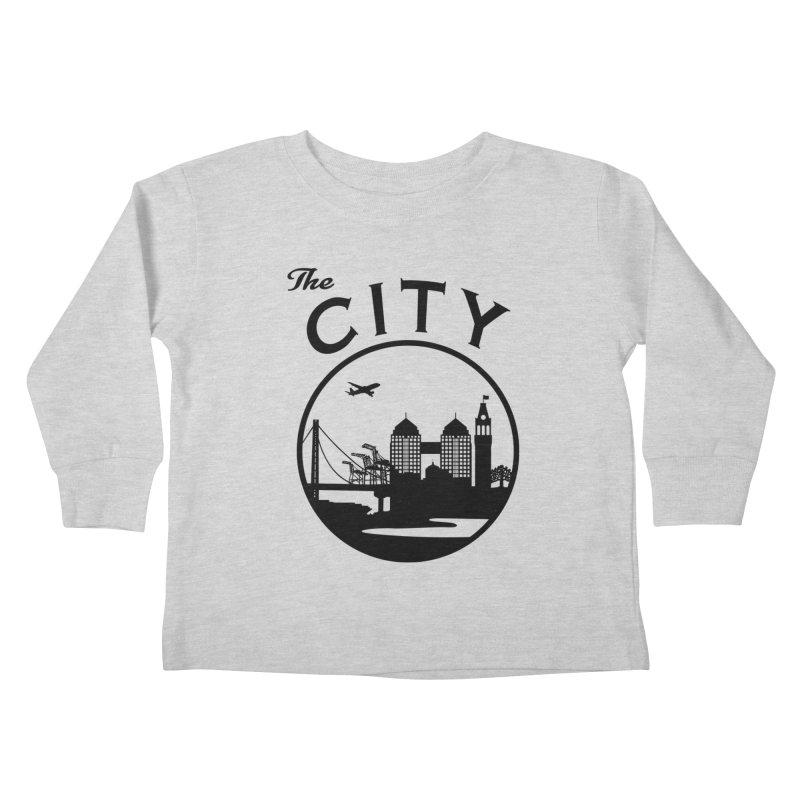 THE CITY of Oakland (Black) Kids Toddler Longsleeve T-Shirt by The Artist Shop of Jason Martian