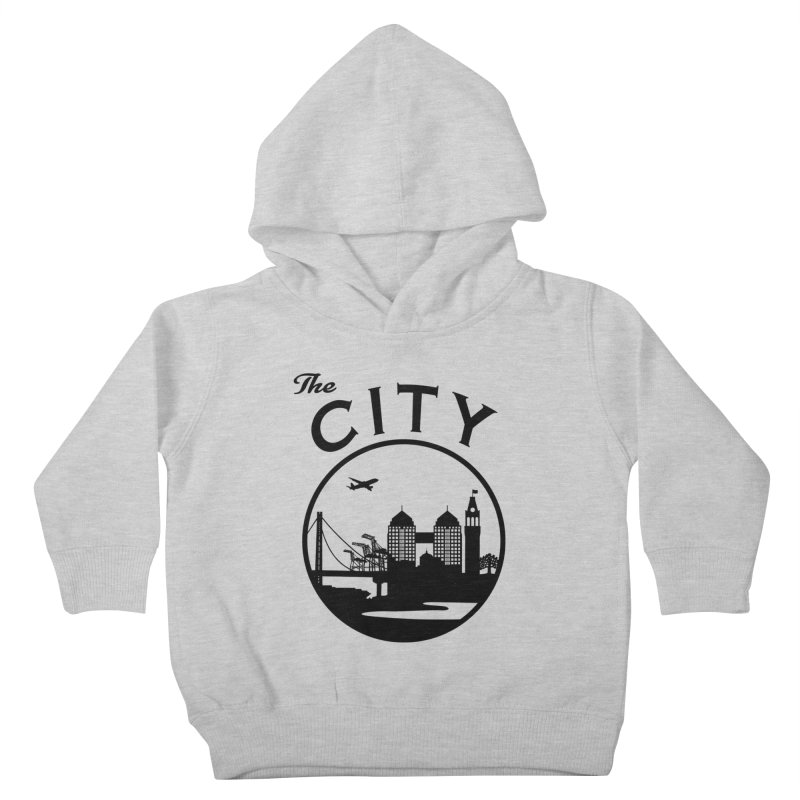 THE CITY of Oakland (Black) Kids Toddler Pullover Hoody by The Artist Shop of Jason Martian