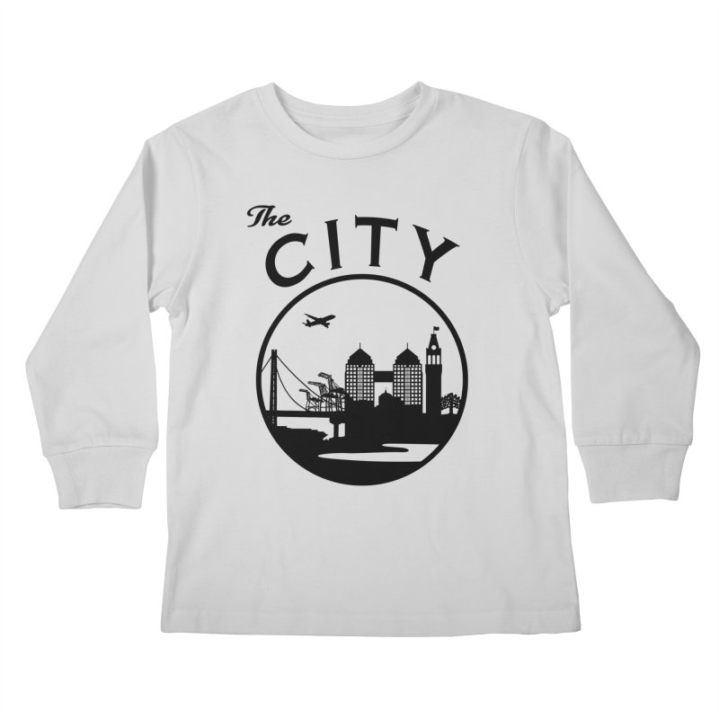 THE CITY of Oakland (Black) Kids Longsleeve T-Shirt by The Artist Shop of Jason Martian