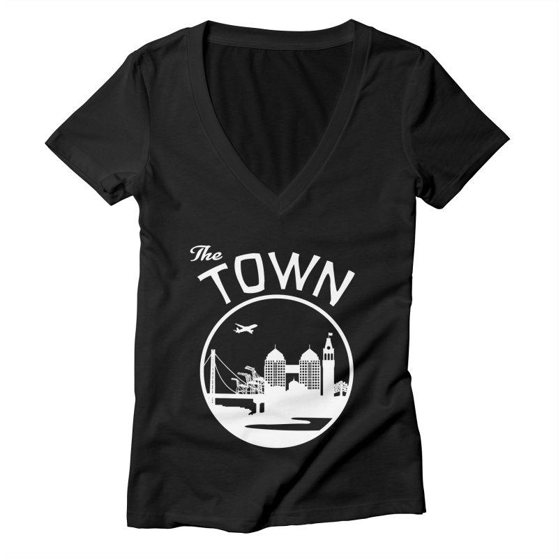Oakland: The Town Women's V-Neck by The Artist Shop of Jason Martian