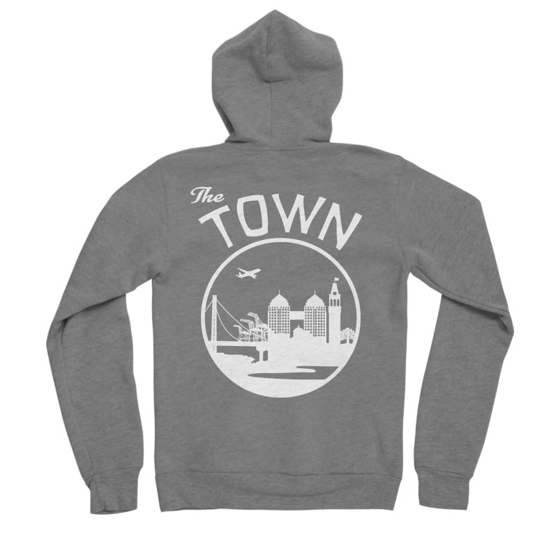 Oakland: The Town Men's Zip-Up Hoody by The Artist Shop of Jason Martian