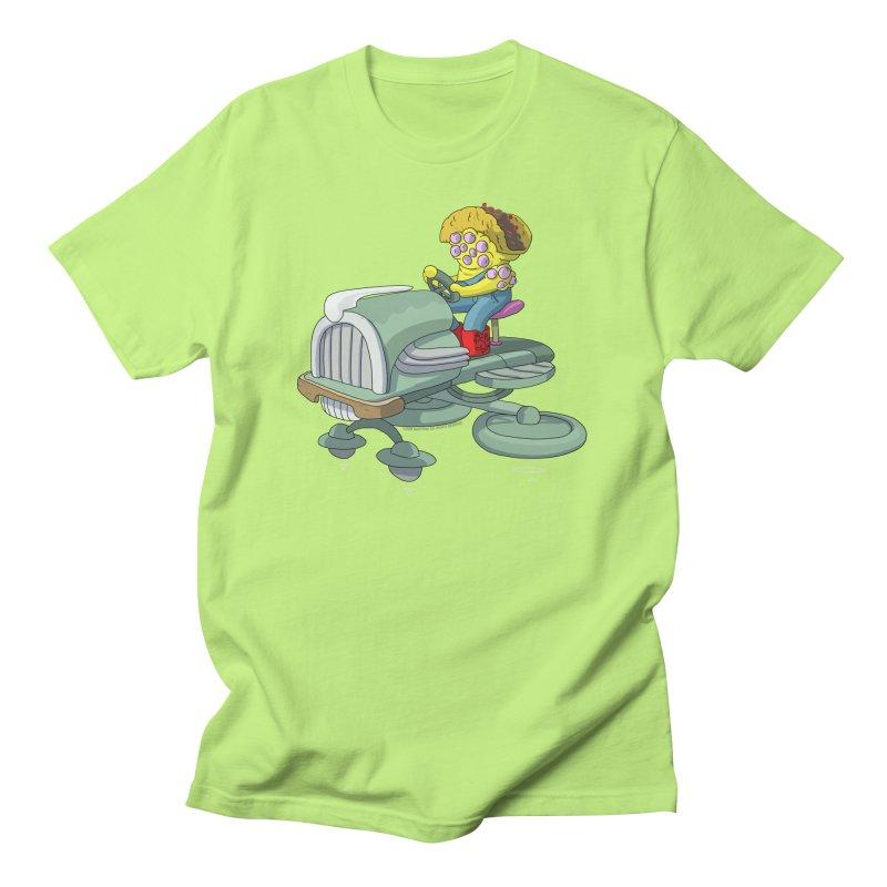 Queso Taco Tractor Man Men's T-Shirt by jasonmayart's Artist Shop