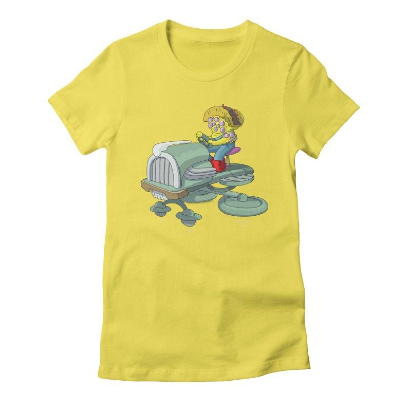 Queso Taco Tractor Man Women's T-Shirt by jasonmayart's Artist Shop